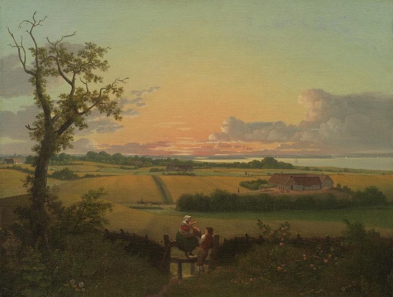 C.W. Eckersberg 1810 - Udsigt over Møn