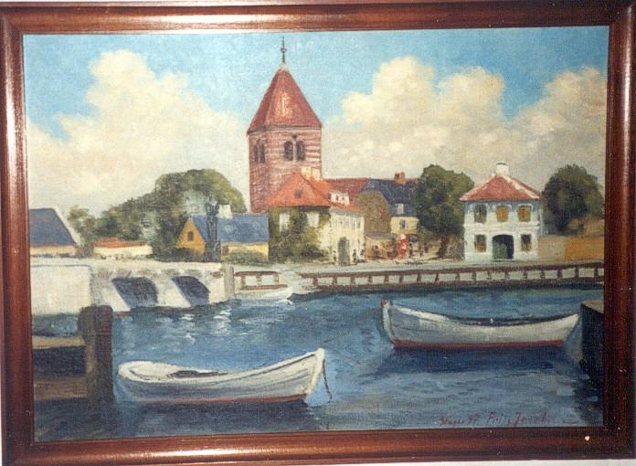 Parti fra Stegehavn malet 1937