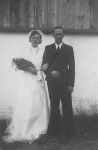 Min mor og far som brudepar