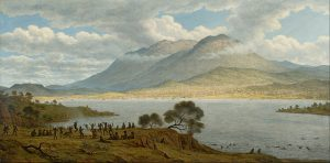Mount Wellington and Hobart Town from Kangaroo Point - John Glover 1834
